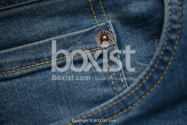 Closeup Of Jeans Pocket