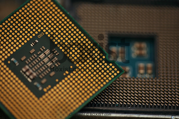 Closeup Of Open Core Processor