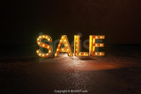 Sale Lights Sign