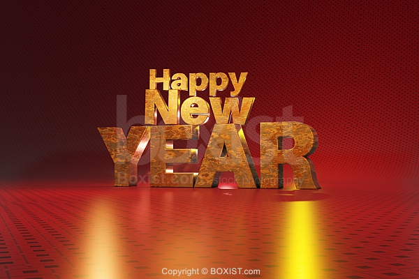 3D Concept Design of Happy New Year