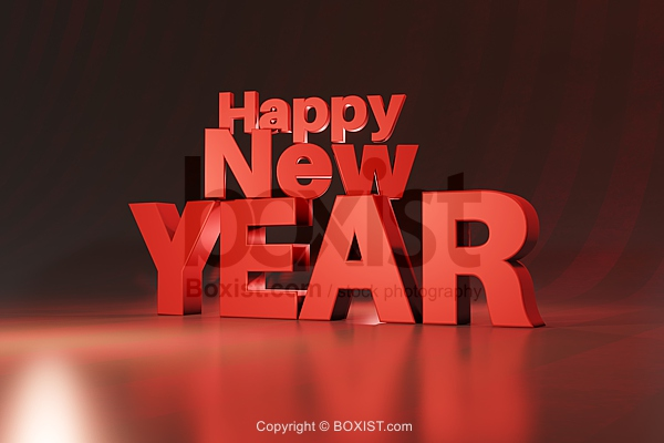 3D Happy New Year Design