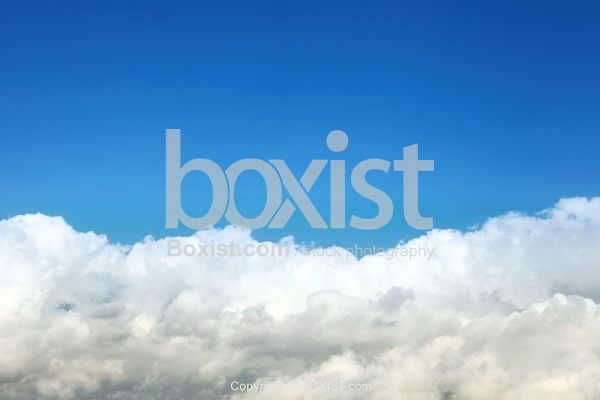 Simple Blue Sky With White Clouds Background