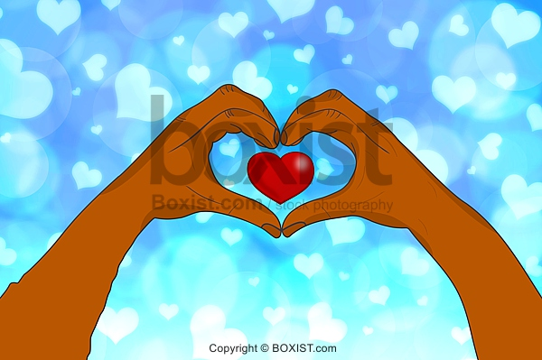Hand And Heart Clipart With Love Background