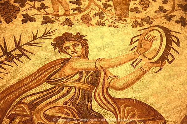 Roman Hand Drum Dance Mosaic