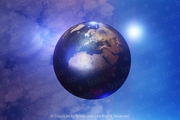 Concept 3D Design Of Planet Earth In Space