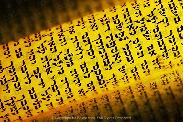 Yellow Hebrew Torah Rolled Scroll