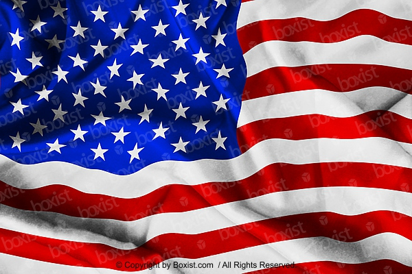 USA National Flag Wrinkled Cloth Background