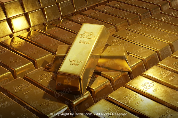 Stack Of Pure Gold Bars
