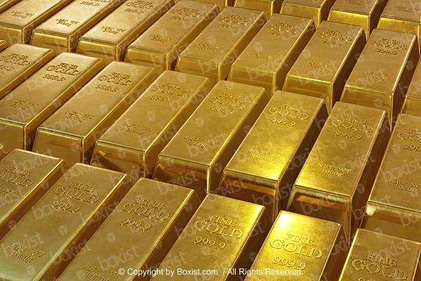 Golden Bars Background