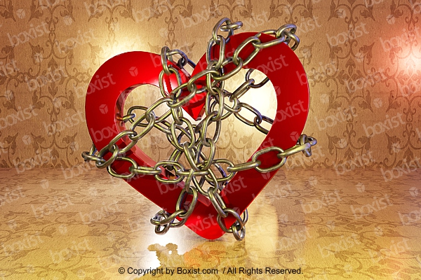 Love Heart with Chains