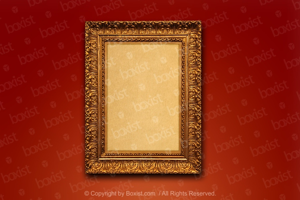 Antique Carved And Gilded Wooden Frame
