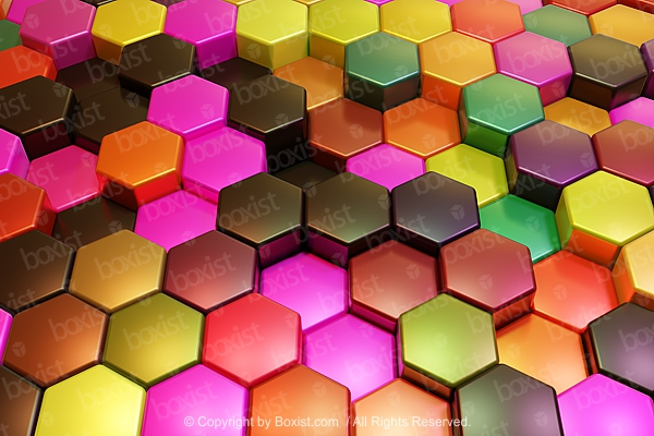 Colored Hexagons Background