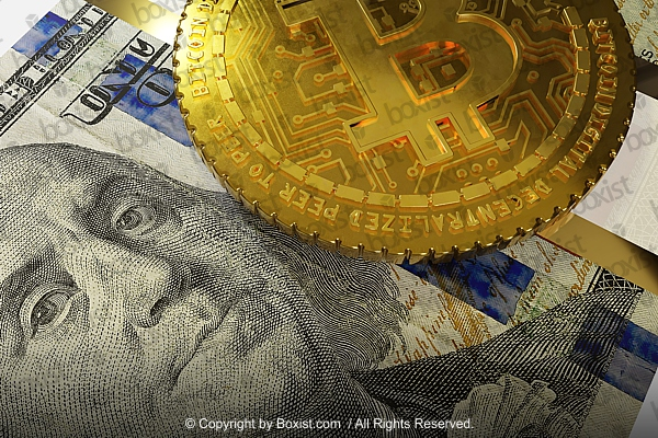 Bitcoin On Hundred Dollar Bill