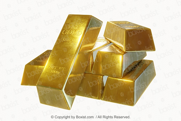 3D Pure Gold Bars