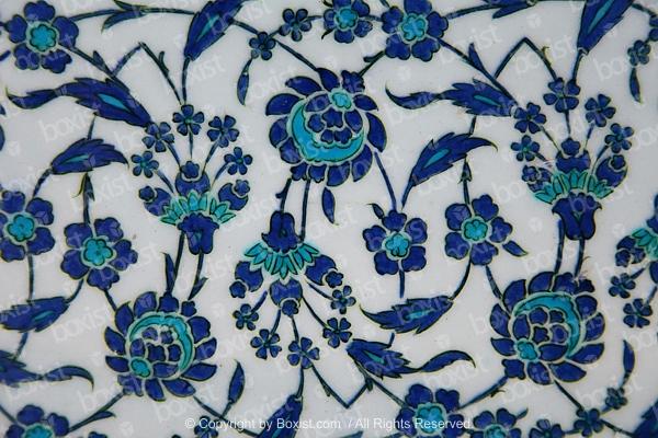 Artistic Floral Iznik Ceramic Tiles