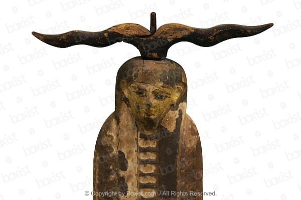 Ancient Egyptian Wooden Figure of Ptah Sokar Osiris
