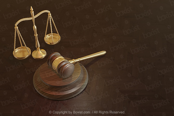 Judge Gavel And Golden Scale