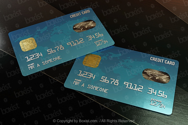 Two Credit Cards Design