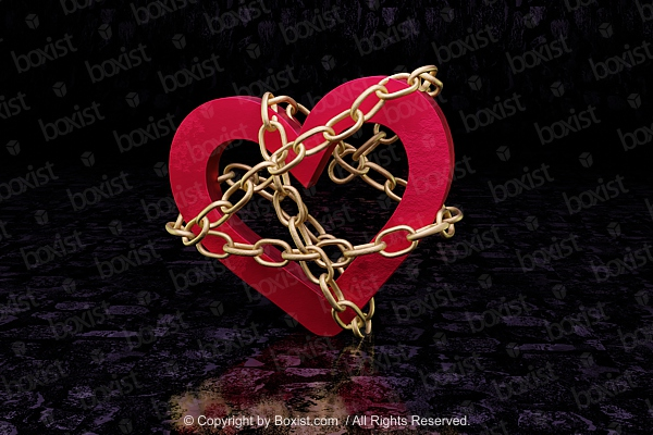 Golden Chained Love Heart