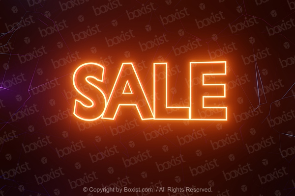 Glowing Sale Sign