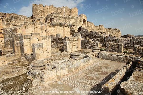 Roman Ruins at Dougga City in North Africa