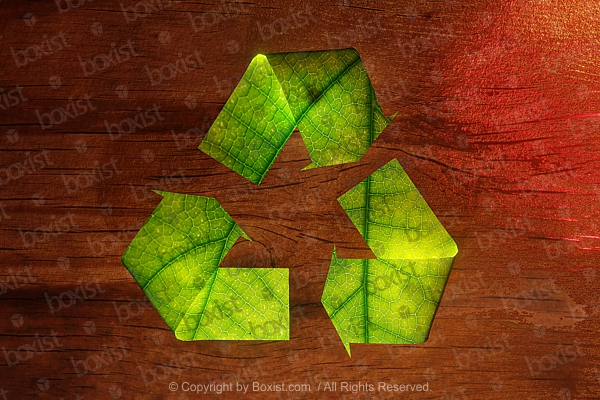 Recycle Leaves Sign