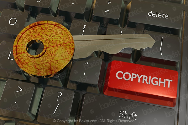 Key With Copyright Keyboard Button