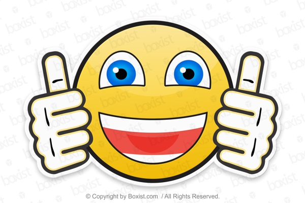 Smiley Face Showing Two Thumbs Up