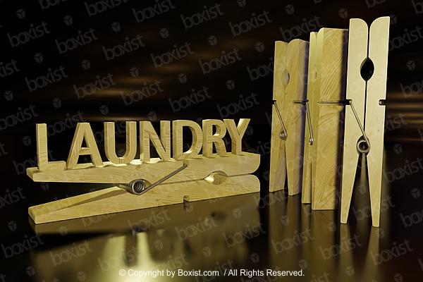 Laundry Clothespins 3D Design