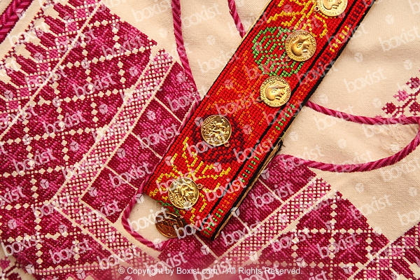 Traditional Embroidery With Golden Coins