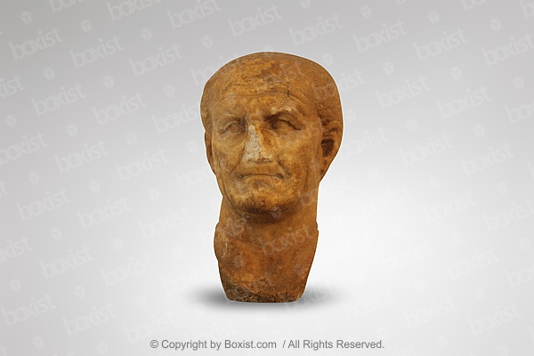 Head Statue Of The Roman Emperor Vespasian