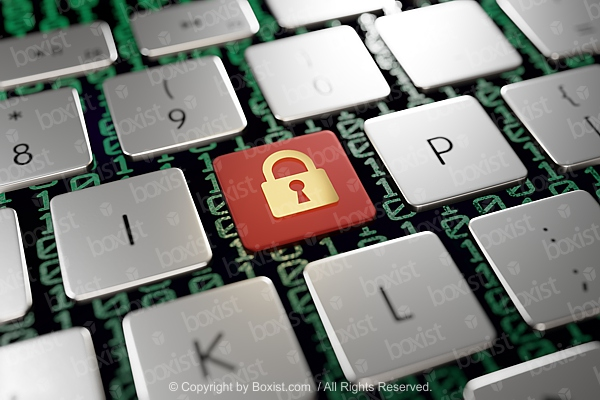 Padlock Icon on Computer keyboard