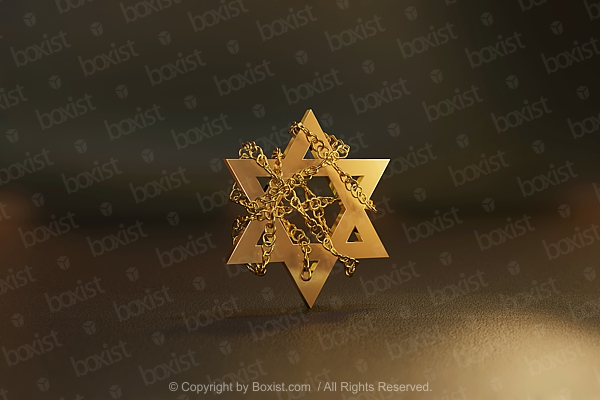 Chained Golden David Star