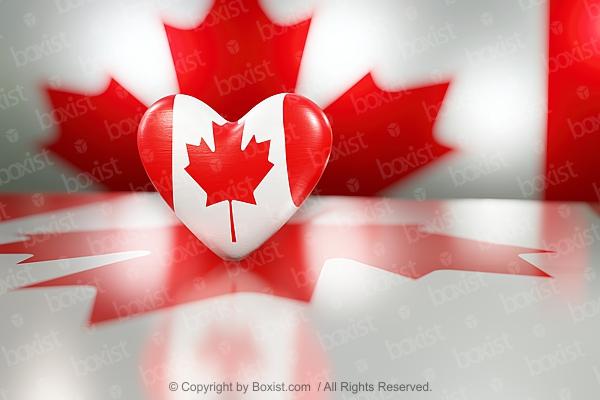 Canadian Flag Love Heart