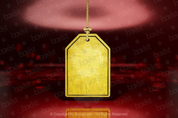 Golden Sale Tag
