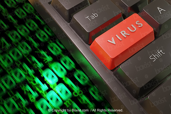 Red Virus keyboard Button