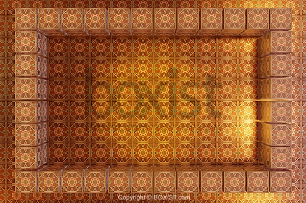 Wooden Arabesque Frame And Background