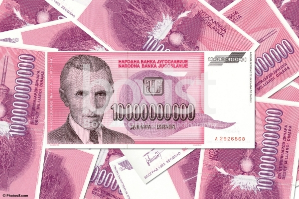 Ten Billion Yugoslavian Dinar Series Year 1993