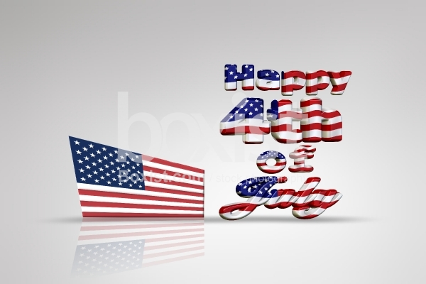 3D Design for Happy 4th of July