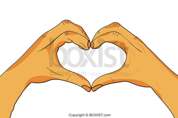 Heart In The Sky Hands Clipart