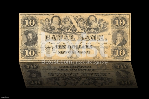 10 Dollars 1840 Series New Orleans Front
