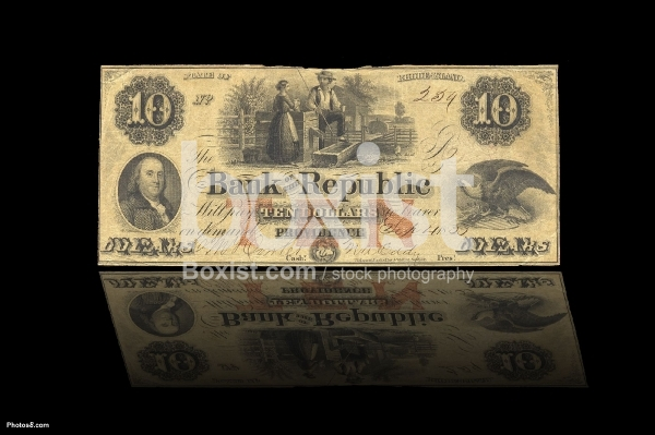 10 Dollars Year 1855 Bank of the Republic