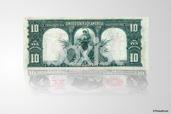 10 Dollars Year 1901 Series Back Side