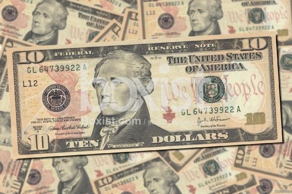 10 US Dollars Bill