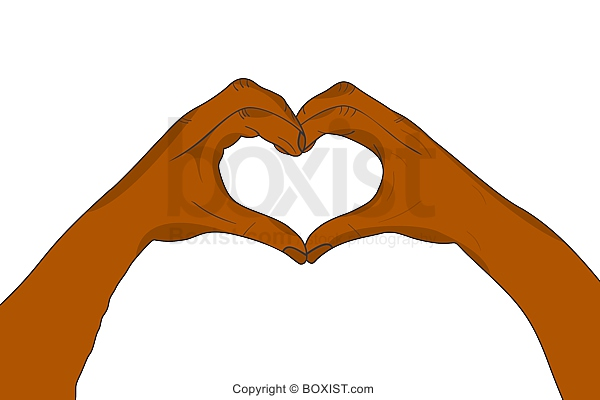 Two Hands In Heart Shape Clipart On White Background