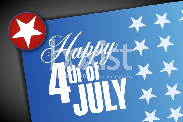 4th of July Happy Holiday Card