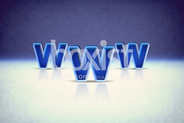 3D Blue World Wide Web Design