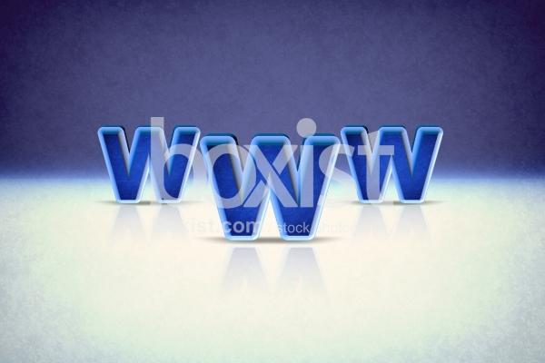 3D Blue World Wide Web Design