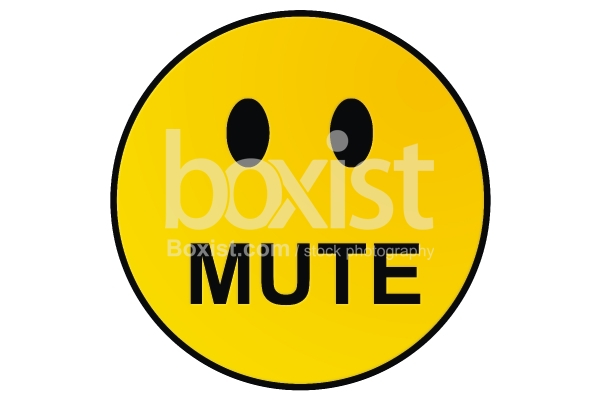 Mute Smiley Face