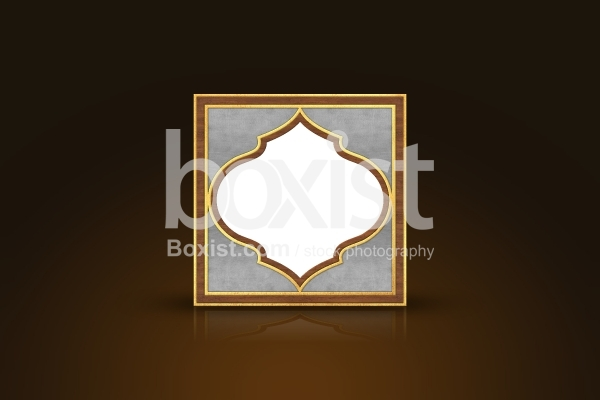 Arabesque Frame with White Space